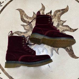 Red Velvet Dr. Martens Boots